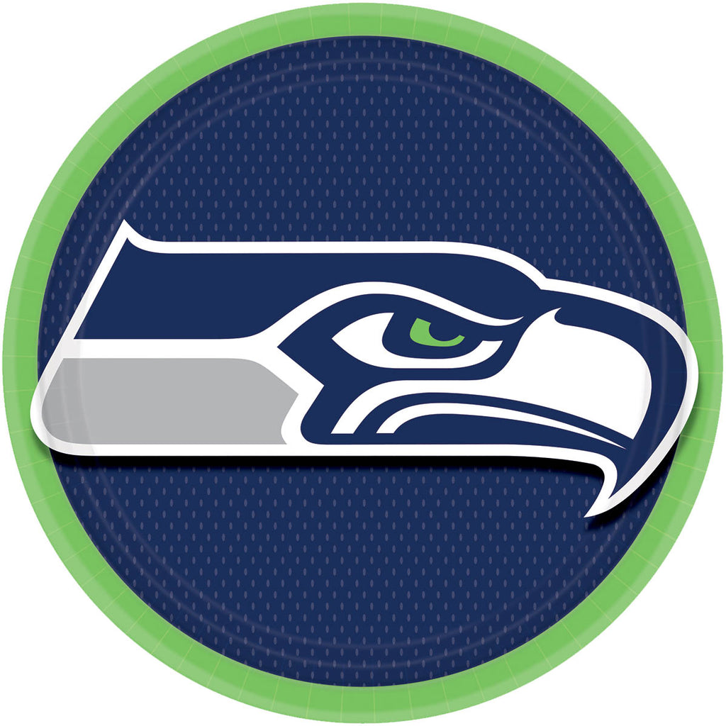 Seattle Seahawks Lunch Plates 8ct - NFL - Party Supplies - America Likes To Party