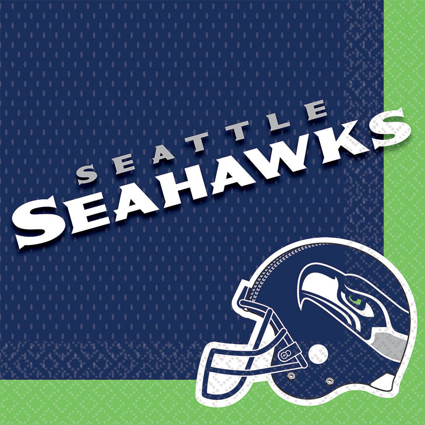 Seattle Seahawks Lunch Napkins 16ct - NFL - Party Supplies - America Likes To Party