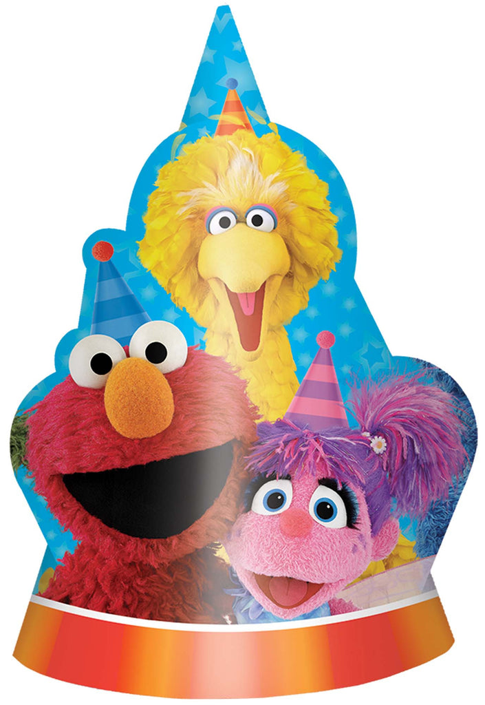 Sesame Street Paper Hats 8ct - SESAME STREET - Party Supplies - America Likes To Party
