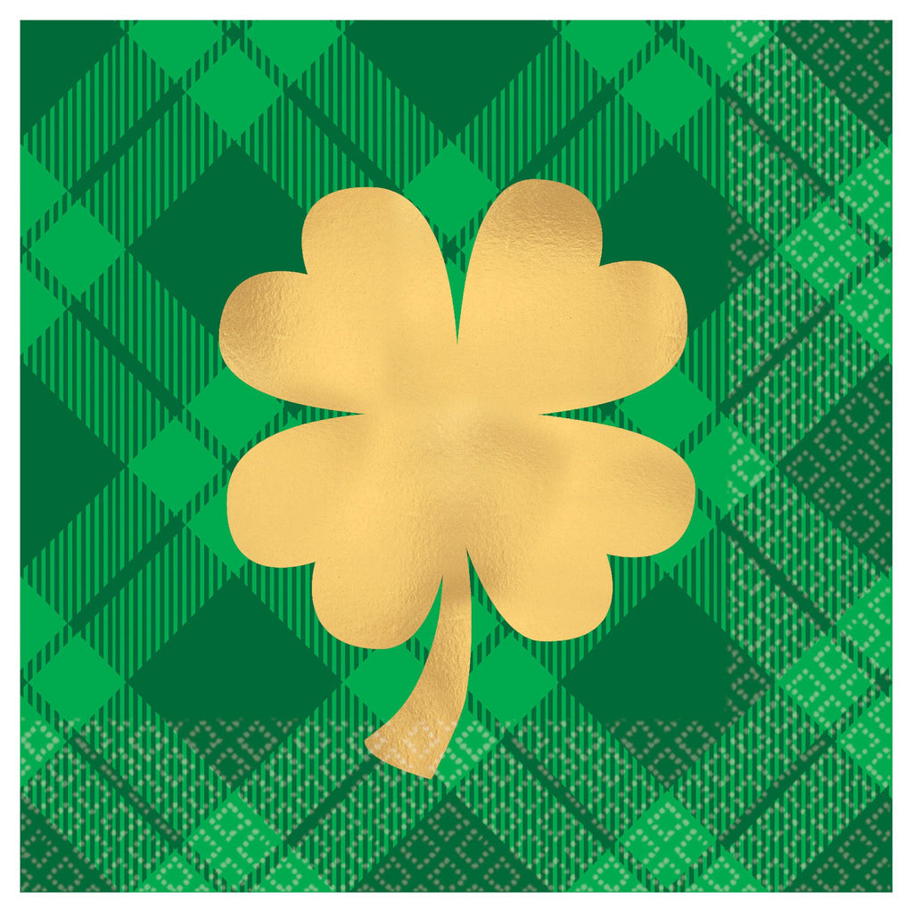 Shamrock Gold Beverage Napkin