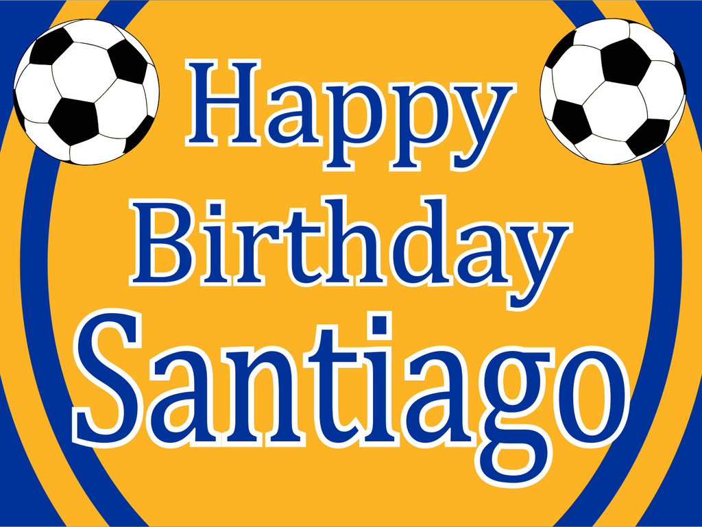 "Soccer Birthday Custom 18"" X 24"" Lawn Sign"