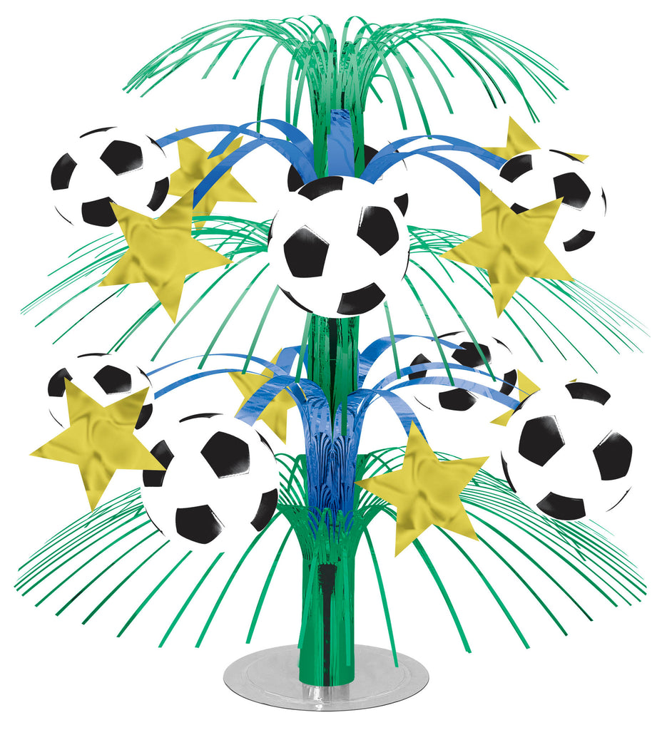 Soccer Cascade Centerpiece - SOCCER - Party Supplies - America Likes To Party