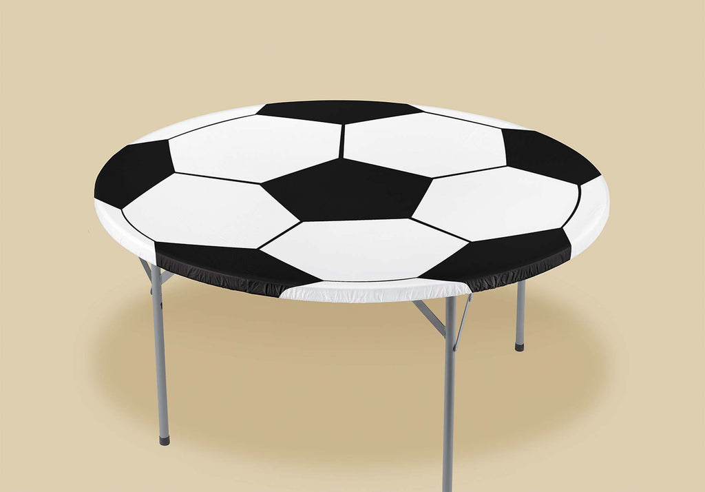 Soccer Plastic Fitted Tablecover - SOCCER - Party Supplies - America Likes To Party