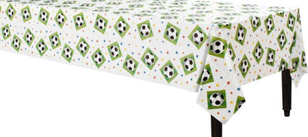 Soccer Plastic Tablecover - SOCCER - Party Supplies - America Likes To Party