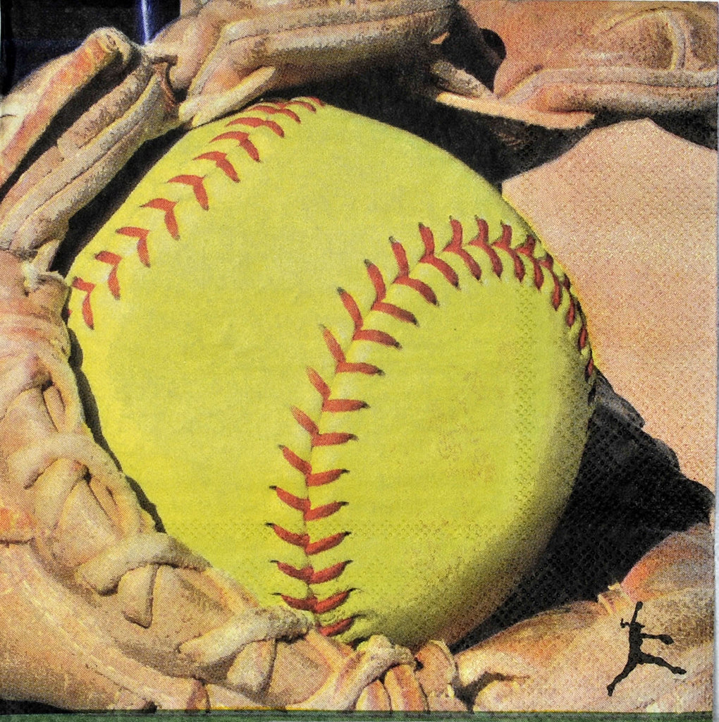 Softball Lunch Napkins 16ct - BASEBALL/SOFTBALL - Party Supplies - America Likes To Party