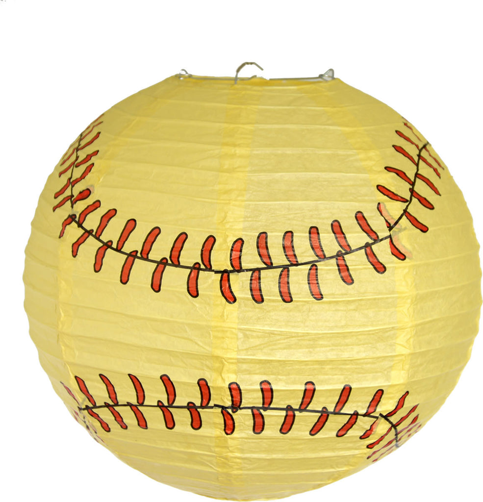 Softball Paper Lantern - BASEBALL/SOFTBALL - Party Supplies - America Likes To Party