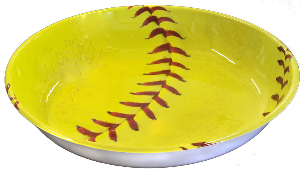 "Softball 14"" Plastic Bowl - BASEBALL/SOFTBALL - Party Supplies - America Likes To Party"