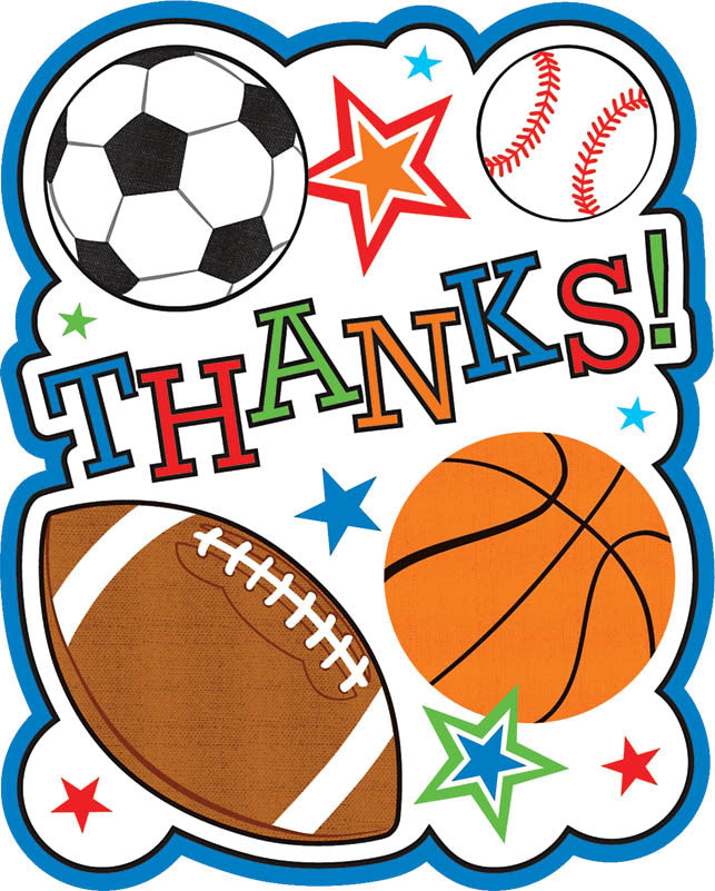 Sports Party Thank You Cards - $.99 / $1.49 - Party Supplies - America Likes To Party