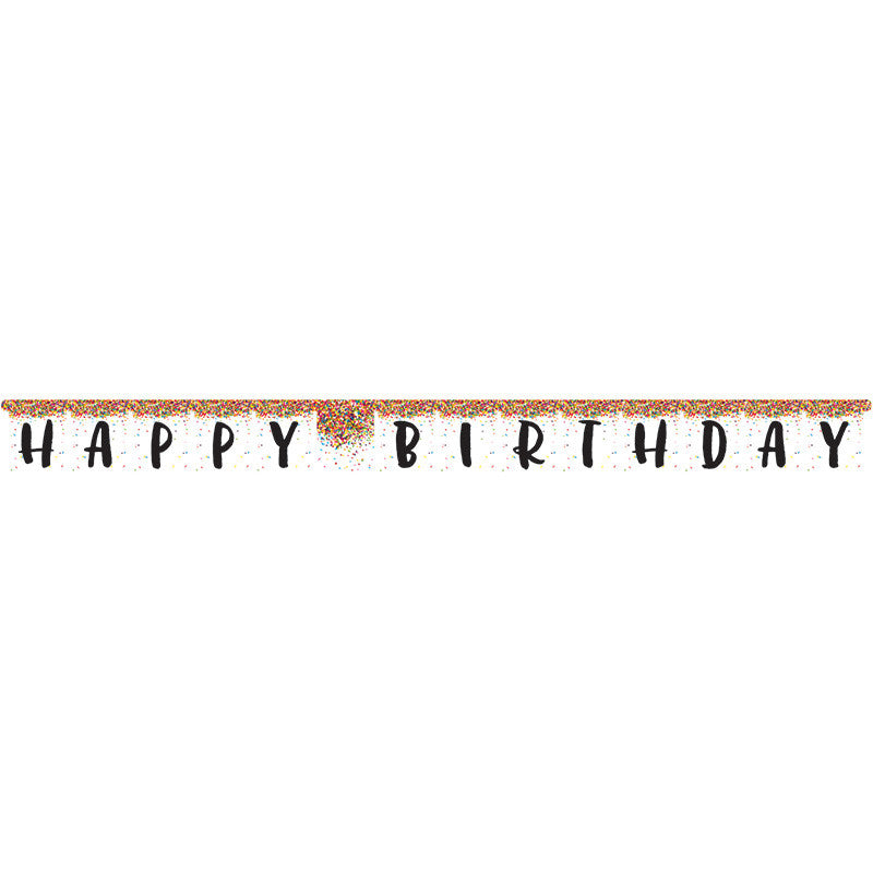 Sprinkles Birthday Jointed Banner - GENERAL BIRTHDAY PATTERNS - Party Supplies - America Likes To Party