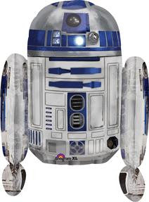 Star Wars R2D2 Super Shape Balloon - KIDS BDAY MYLARS - Party Supplies - America Likes To Party