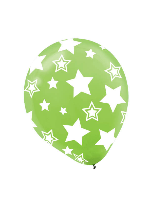 Kiwi Stars 6ct - BAGS LATEX - Party Supplies - America Likes To Party