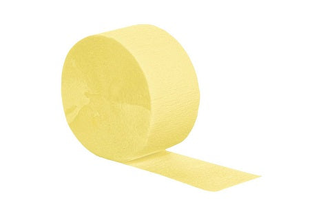 Lt. Yellow Crepe Streamer 500ft - CREPE - Party Supplies - America Likes To Party