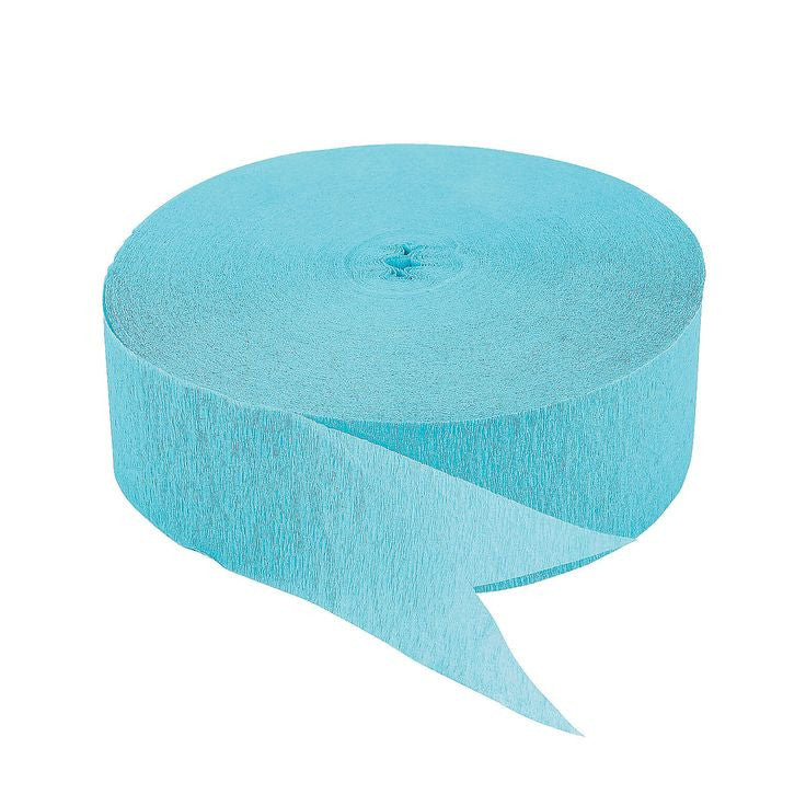 Pale Blue Crepe Streamer 500ft - CREPE - Party Supplies - America Likes To Party
