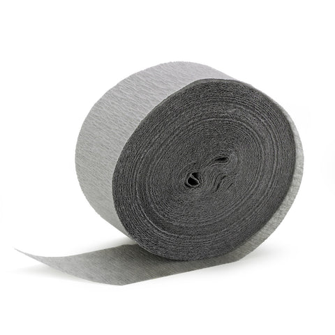 Gray Crepe Streamer - CREPE - Party Supplies - America Likes To Party