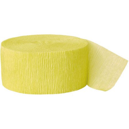 Lt. Yellow Crepe Streamer - CREPE - Party Supplies - America Likes To Party