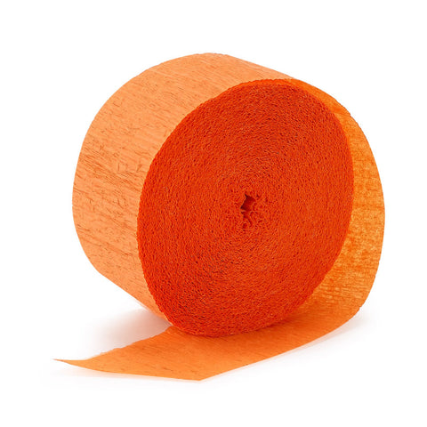 Orange Crepe Streamer - CREPE - Party Supplies - America Likes To Party