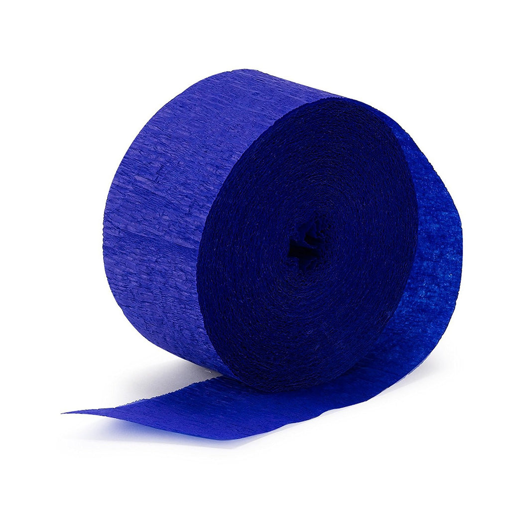Royal Blue Crepe Streamer - CREPE - Party Supplies - America Likes To Party