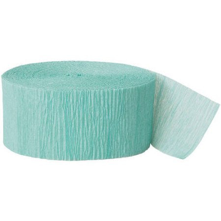 Seafoam Crepe Streamer - CREPE - Party Supplies - America Likes To Party