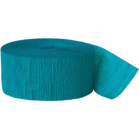 Teal Crepe Streamer - CREPE - Party Supplies - America Likes To Party