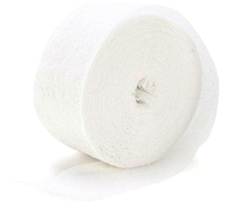 White Crepe Streamer - CREPE - Party Supplies - America Likes To Party