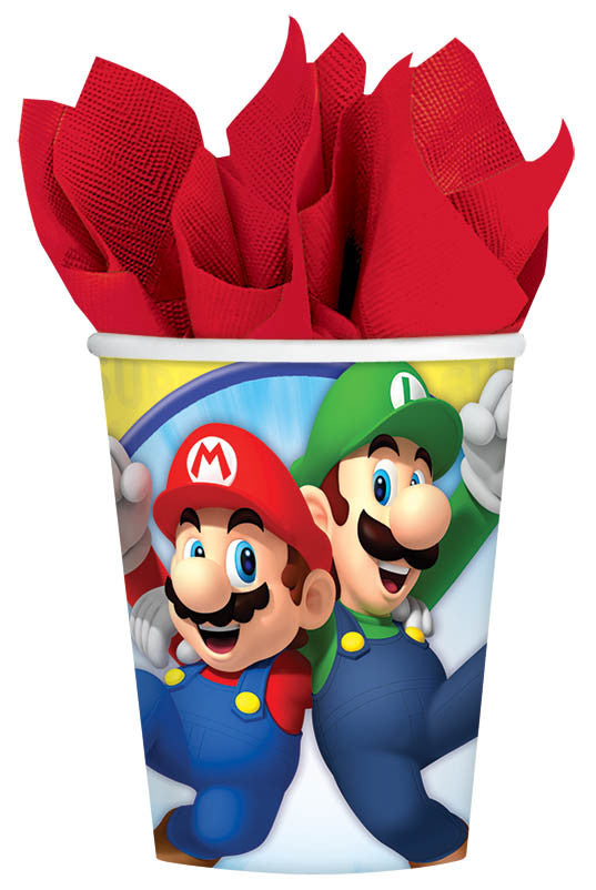 Super Mario 9oz Paper Cups - MARIO - Party Supplies - America Likes To Party