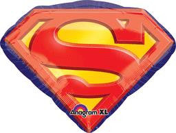 Superman Emblem Super Shape Balloon - KIDS BDAY MYLARS - Party Supplies - America Likes To Party