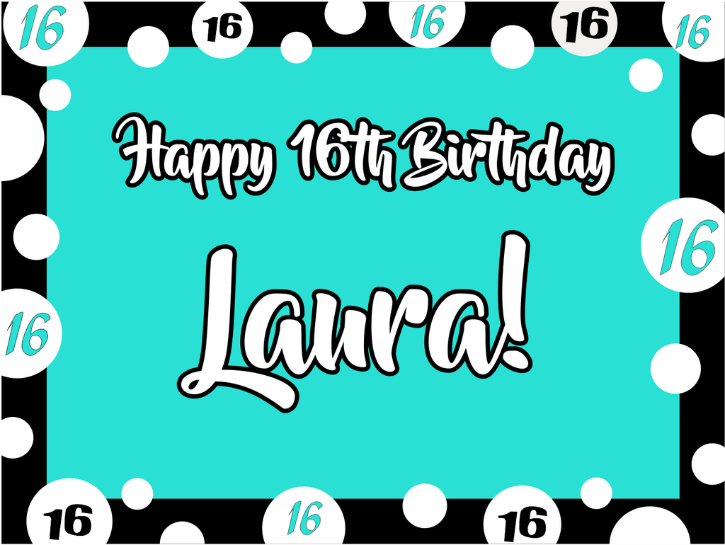 "Sweet Birthday Custom 18"" X 24"" Lawn Sign"