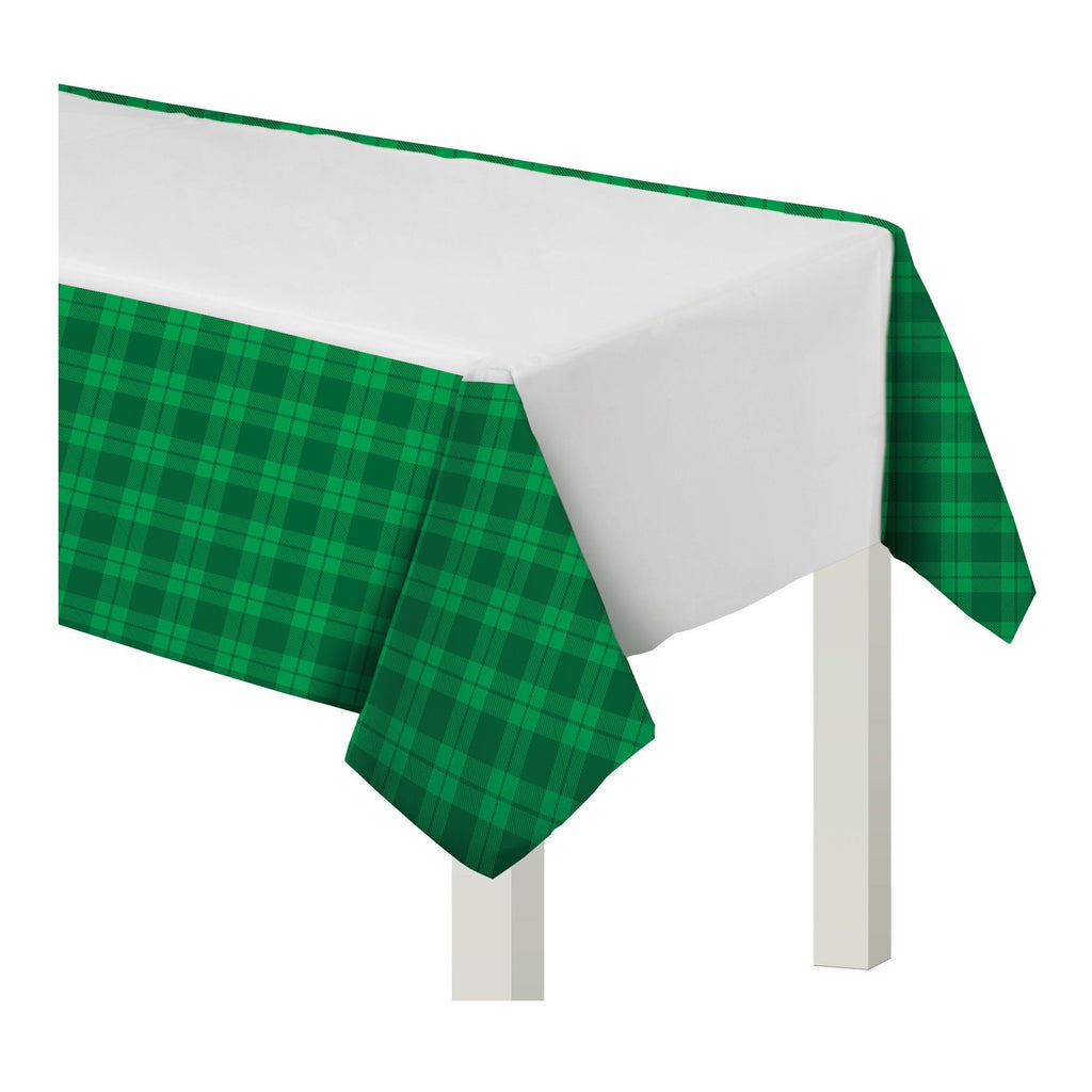 St. Patricks Day Plaid Tablecover