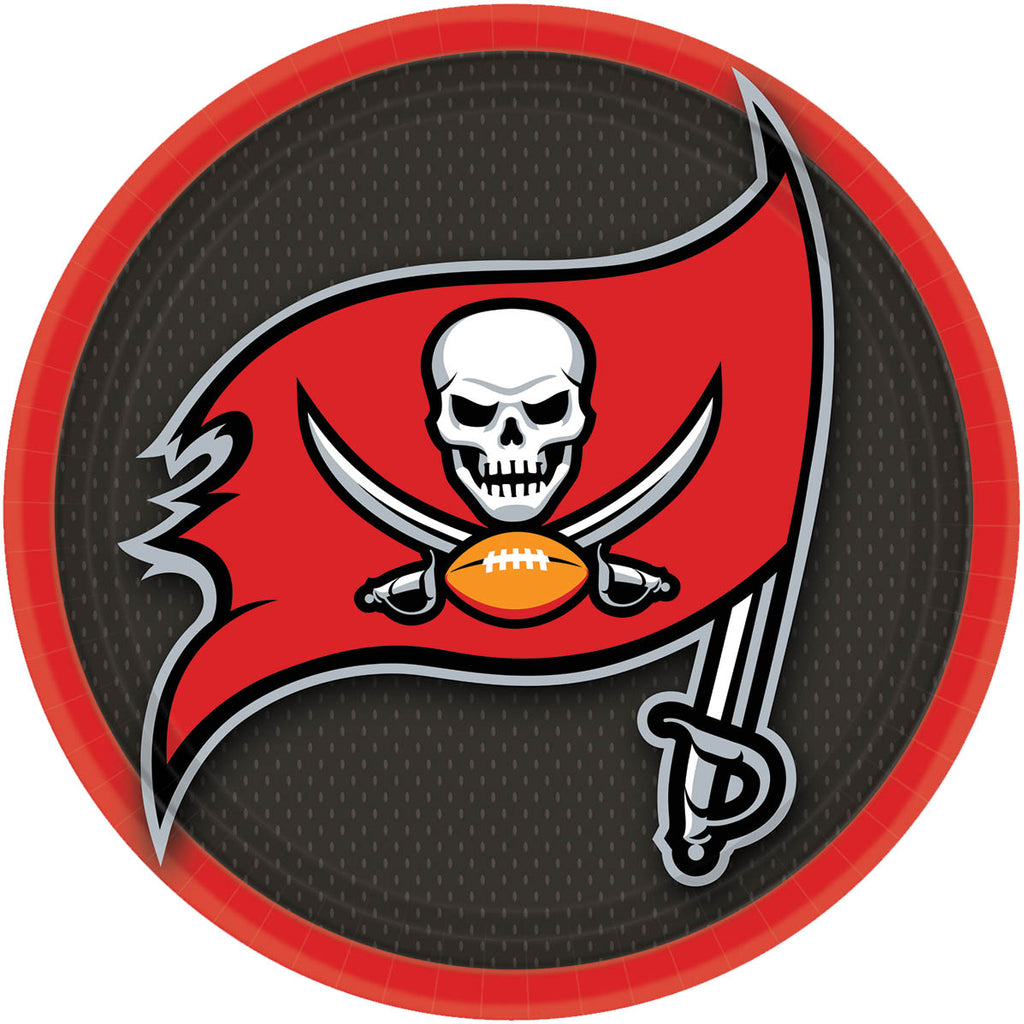 Tampa Bay Buccaneers Lunch Plates 8ct - NFL - Party Supplies - America Likes To Party
