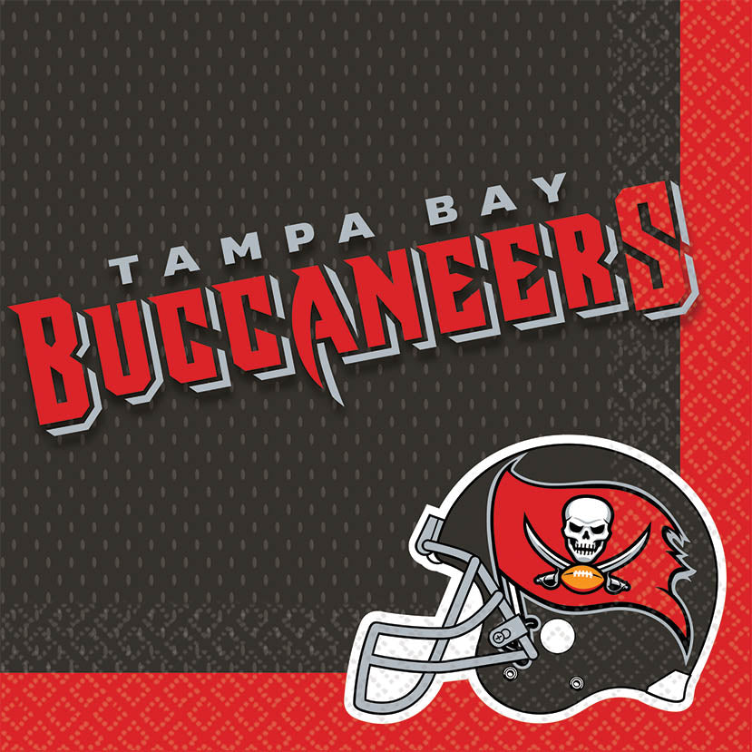 Tampa Bay Buccaneers Lunch Napkins 16ct - NFL - Party Supplies - America Likes To Party