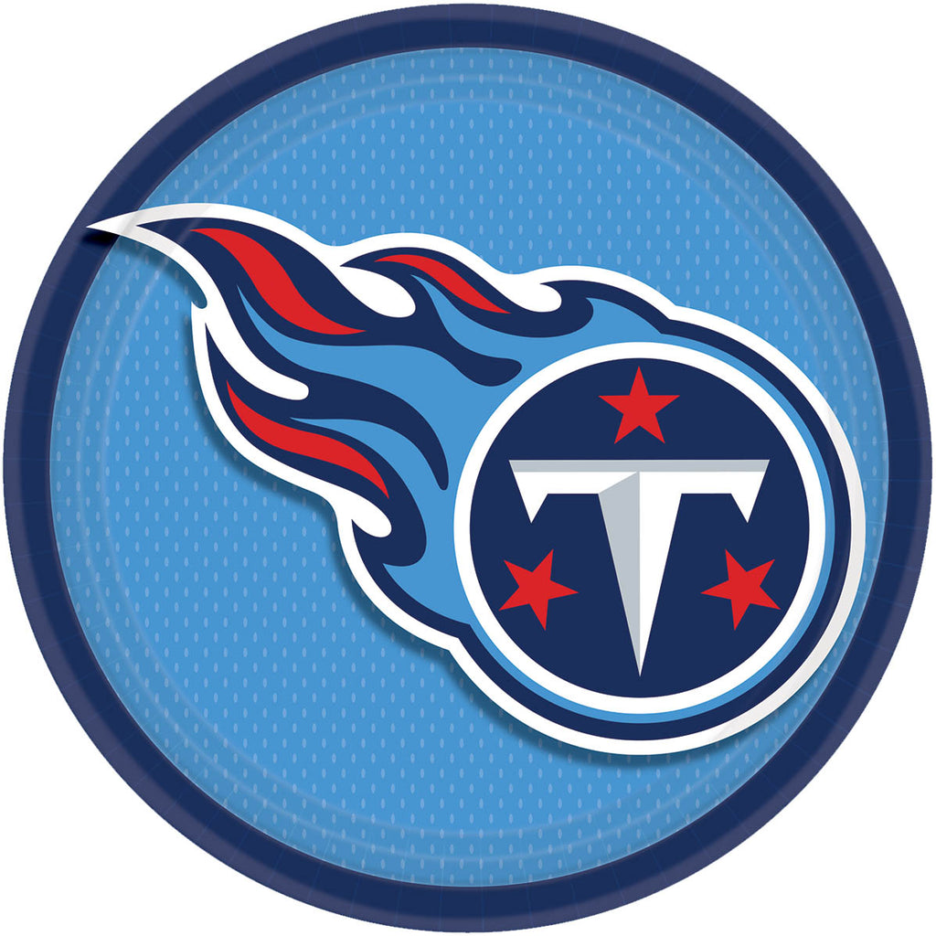Tennessee Titans Lunch Plates 8ct - NFL - Party Supplies - America Likes To Party