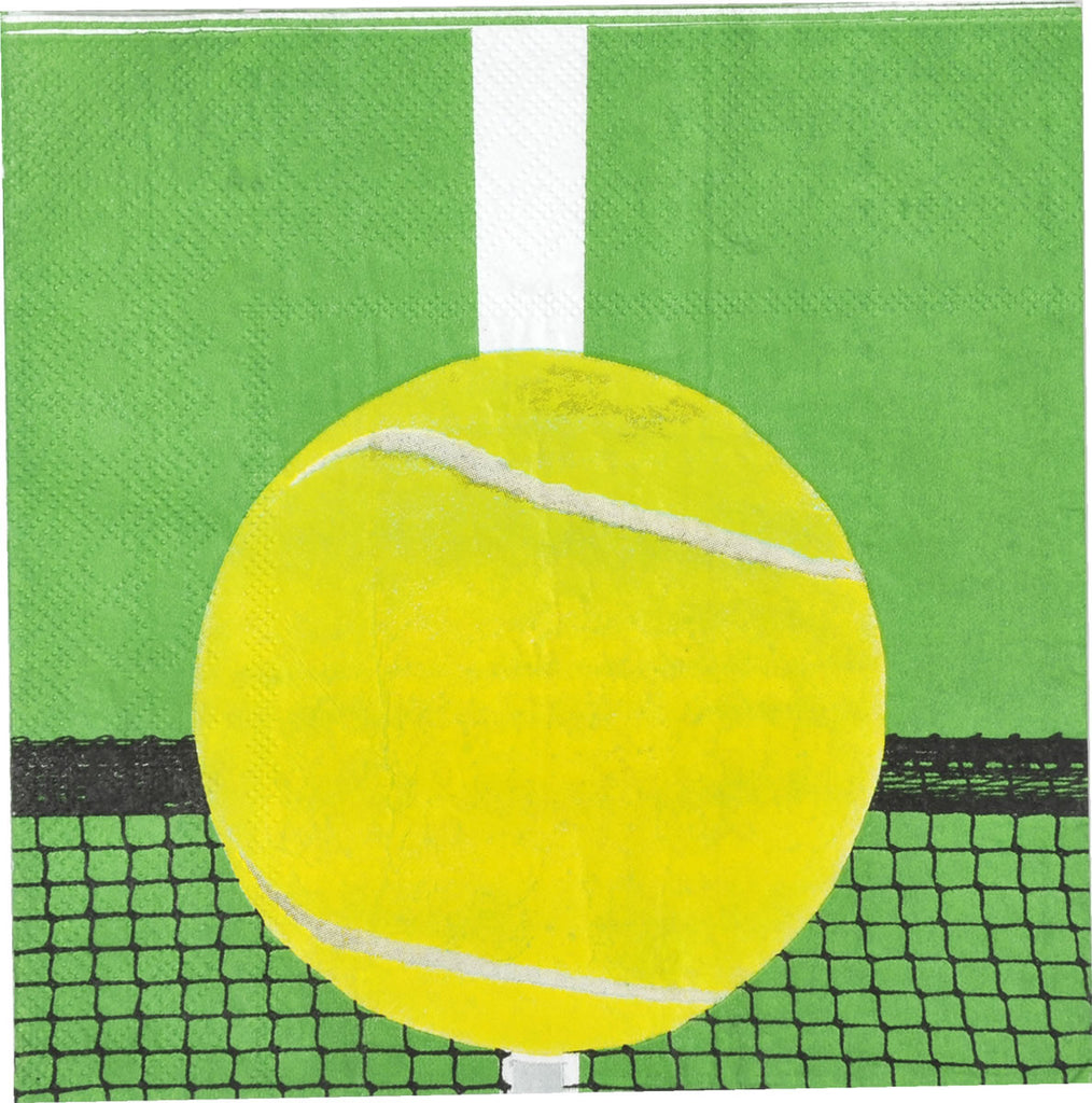 Tennis Beverage Napkins 16ct - BASEBALL/SOFTBALL - Party Supplies - America Likes To Party