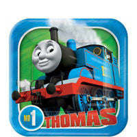Thomas the Tank Dessert Plates 8ct - THOMAS THE TRAIN - Party Supplies - America Likes To Party