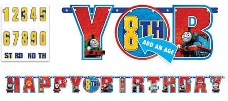 Thomas the Tank Birthday Banner - THOMAS THE TRAIN - Party Supplies - America Likes To Party