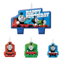 Thomas the Tank Candles 4ct - THOMAS THE TRAIN - Party Supplies - America Likes To Party
