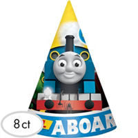 Thomas the Tank Cone Hats 8ct - THOMAS THE TRAIN - Party Supplies - America Likes To Party