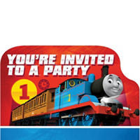 Thomas the Tank Invitations 8ct - THOMAS THE TRAIN - Party Supplies - America Likes To Party