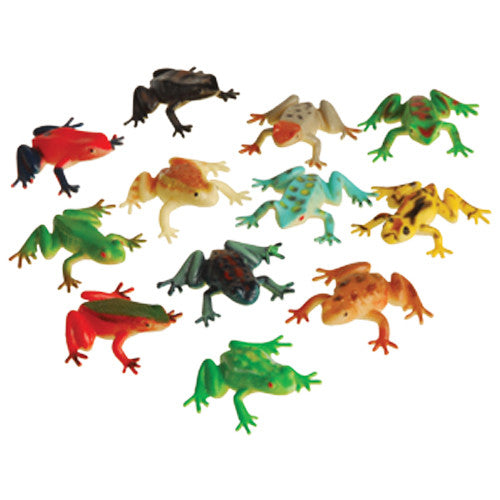 Frog Toys 12ct - PACKAGED FAVORS - Party Supplies - America Likes To Party