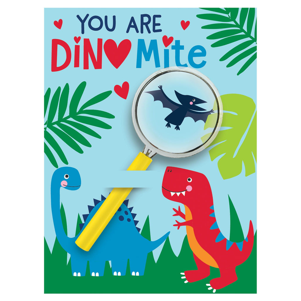 Valentine's Dino Cards with Magnifier