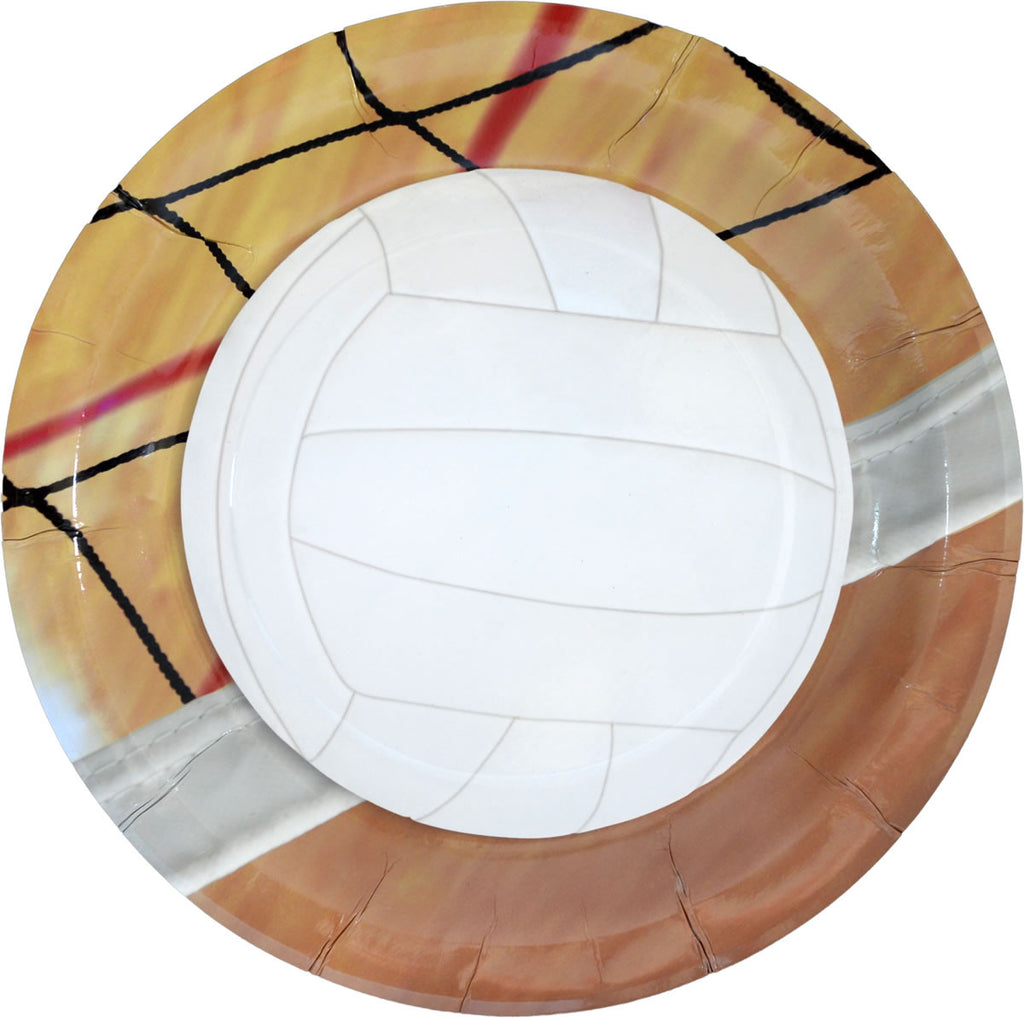 Volleyball Lunch Plates 8ct - VOLLEYBALL - Party Supplies - America Likes To Party