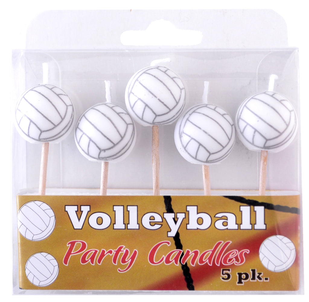 Volleyball Candles 5ct - VOLLEYBALL - Party Supplies - America Likes To Party