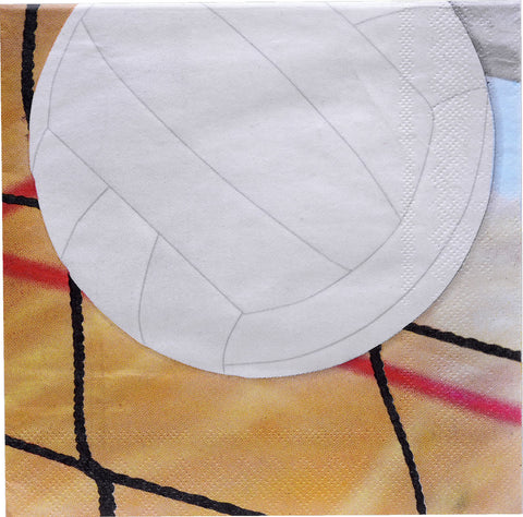 Volleyball Lunch Napkins 16ct Party Supplies Decorations Favors