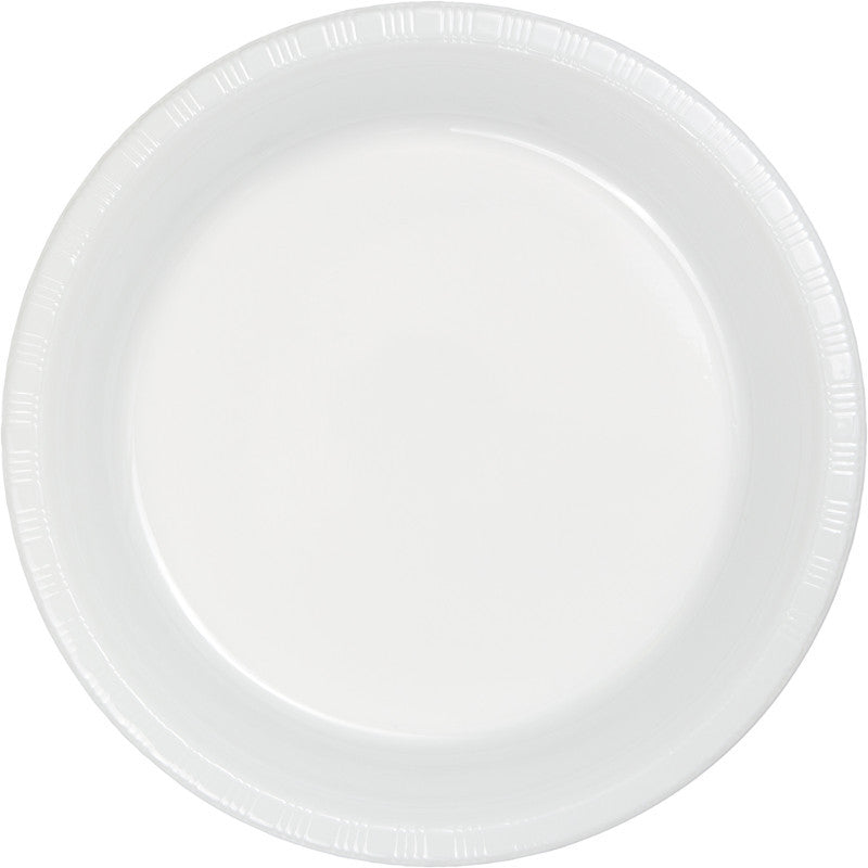 Frosty White Big Party Pack Plastic Dessert Plates 50ct - BIG PARTY PACKS - Party Supplies - America Likes To Party