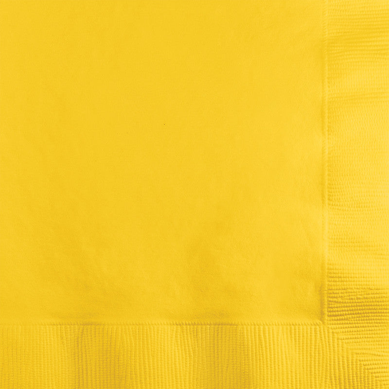 Sunshine Yellow Big Party Pack Beverage Napkins 125ct - BIG PARTY PACKS - Party Supplies - America Likes To Party