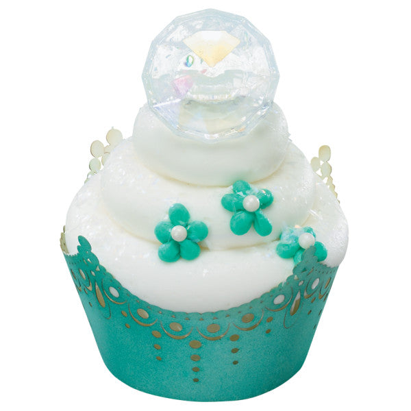 Diamond Irid Cupcake Rings 12ct - CUPCAKE - Party Supplies - America Likes To Party