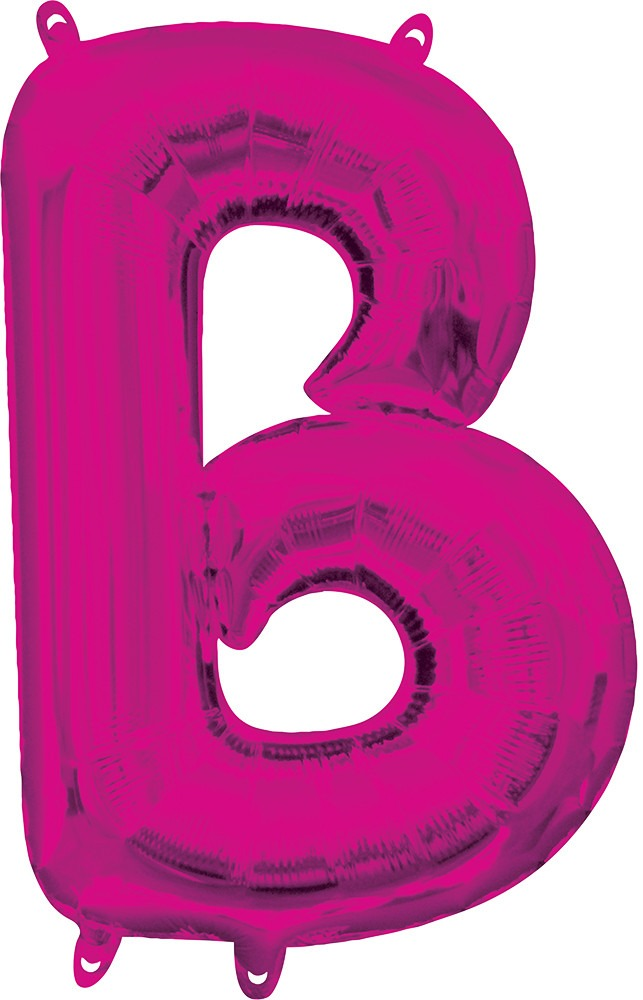 Air Filled Magenta Letter B Balloon