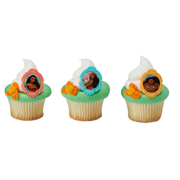 Moana Cupcake Rings 12ct - CUPCAKE - Party Supplies - America Likes To Party
