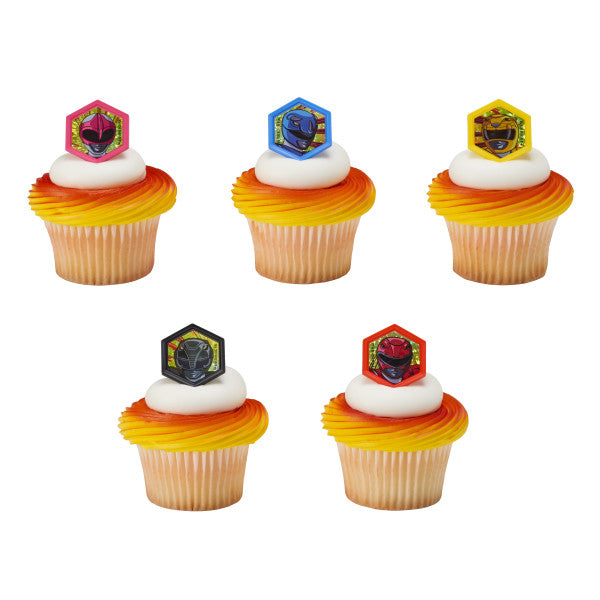Power Ranger Cupcake Rings 12ct - CUPCAKE - Party Supplies - America Likes To Party