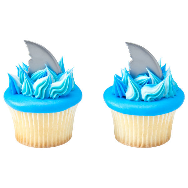 Shark Fin Cupcake Picks 12ct - CUPCAKE - Party Supplies - America Likes To Party