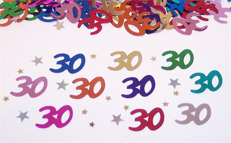30th Birthday Confetti - CONFETTI - Party Supplies - America Likes To Party